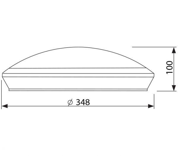 RB LED Portaal armatuur watt afmetingen